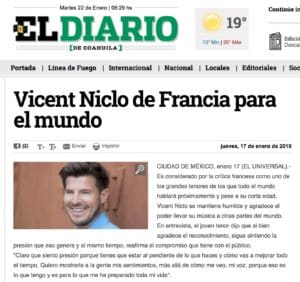 Vincent Niclo De Francia Para EL Mundo